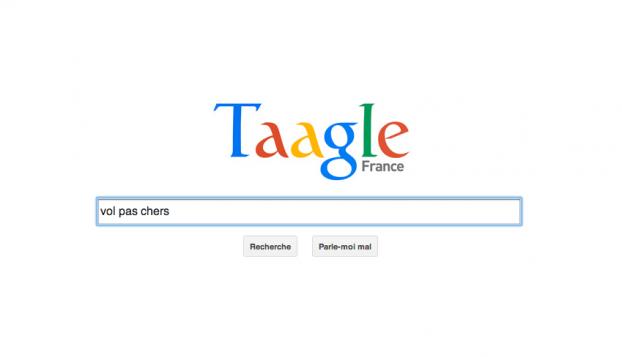 Taagle le moteur de recherche qui parodie google testez for Moteur de recherche hotel