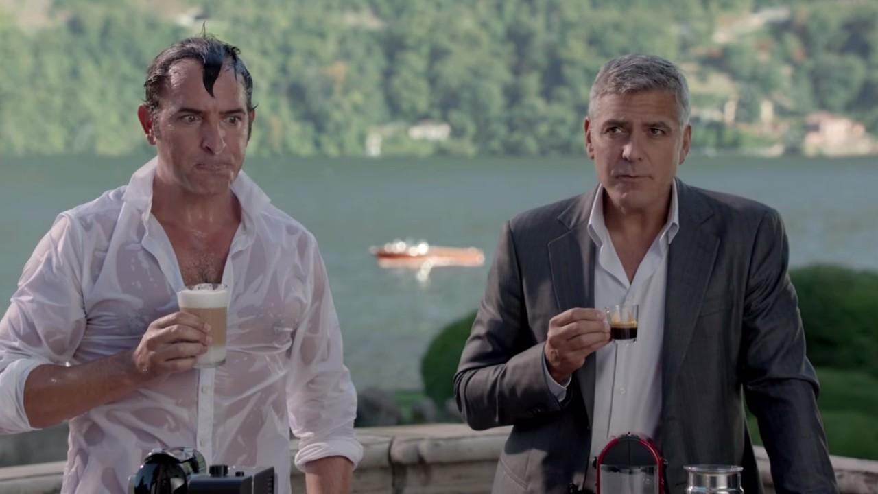 La nouvelle publicit nespresso avec george clooney et for La nouvelle vie de jean dujardin