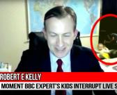 Un expert interrompu par ses enfants pendant une interview de la BBC