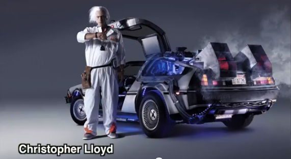 retour vers le futur louez la delorean qui voyage dans le temps de doc et marty vid os mdr. Black Bedroom Furniture Sets. Home Design Ideas