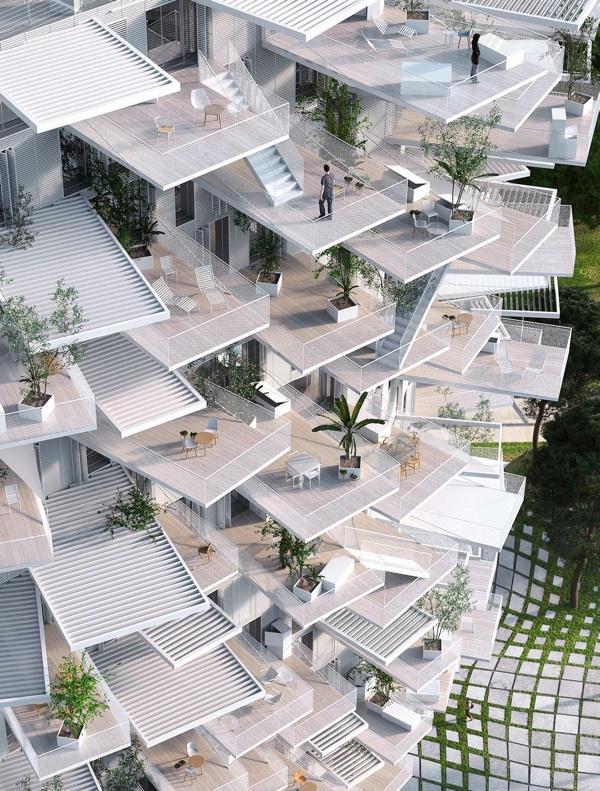 montpellier un immeuble en forme d 39 arbre pour 2015. Black Bedroom Furniture Sets. Home Design Ideas