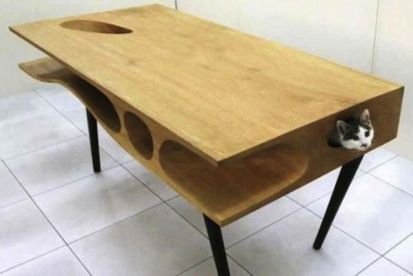 d couvrez la catable un bureau parfait pour que votre chat ne s 39 allonge plus sur votre clavier. Black Bedroom Furniture Sets. Home Design Ideas