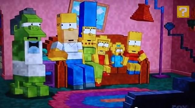 Le g n rique des simpsons en version minecraft vid os mdr for El mejor sofa del mundo