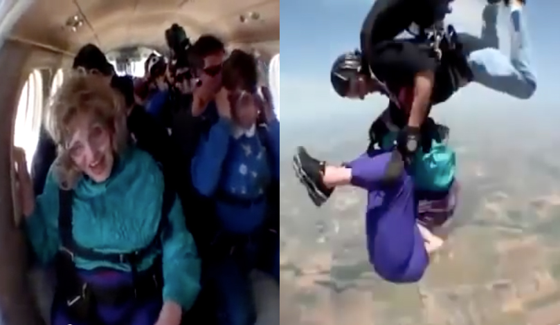 saut en parachute mamie 80 ans