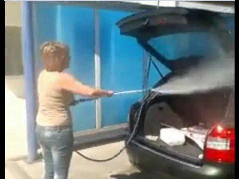fail elle lave l 39 int rieur de la voiture de son mari au karcher. Black Bedroom Furniture Sets. Home Design Ideas