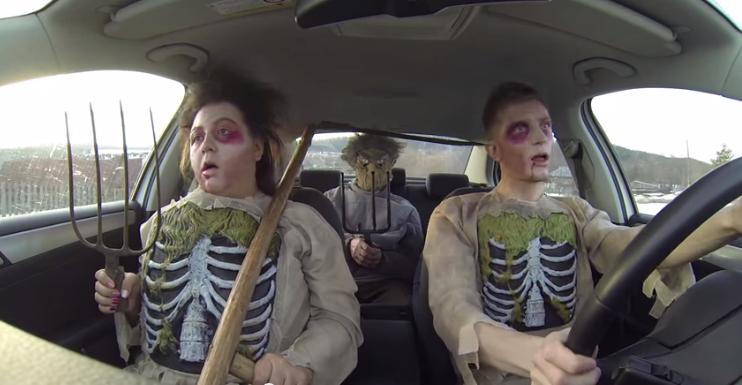 parodie chanson dans voiture