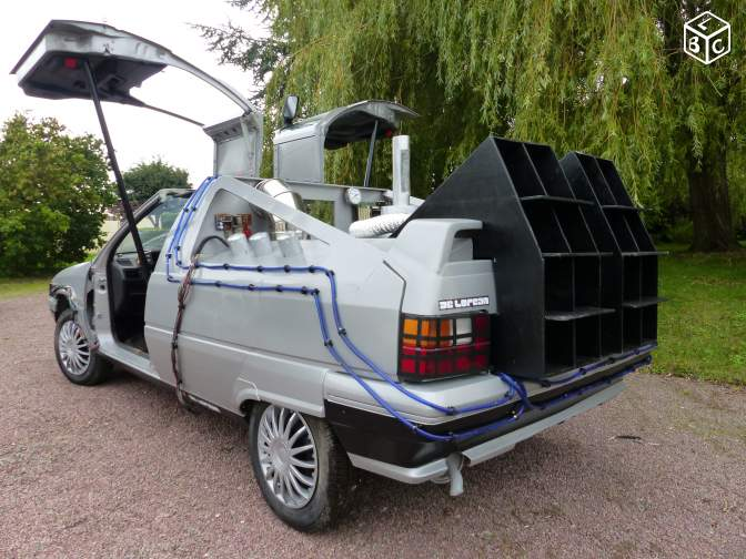 insolite il vend une citro n bx transform e en delorean sur le bon coin. Black Bedroom Furniture Sets. Home Design Ideas