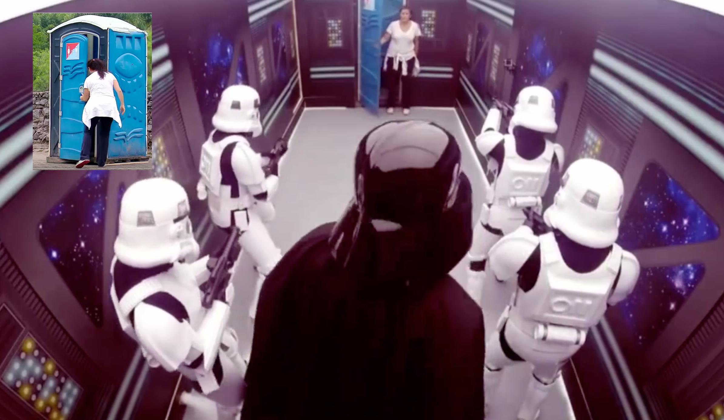 Camera Cachee Star Wars : Star wars : des inconnus piégés dans les toilettes